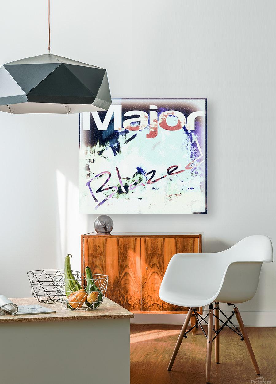 MajorBlazed SnowCO  HD Metal print with Floating Frame on Back