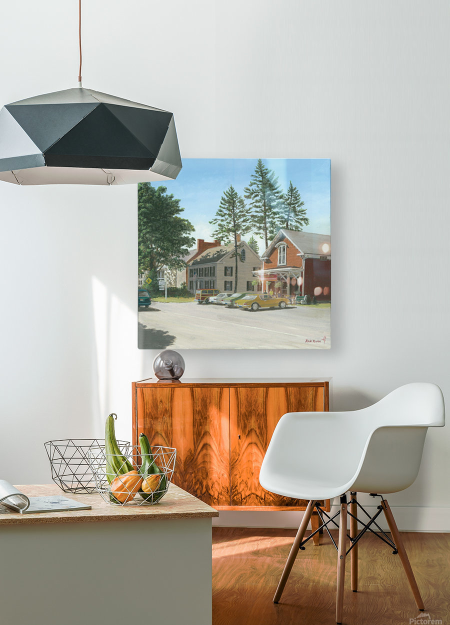 The General Store - Newtown Scenes 16X16  HD Metal print with Floating Frame on Back