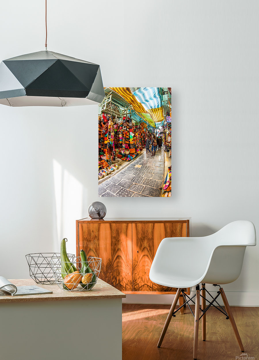 Souk Tunis Tunisie  HD Metal print with Floating Frame on Back