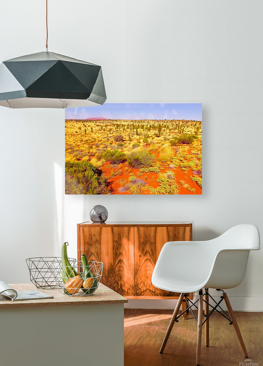 Dune Landscape - Central Australia  HD Metal print with Floating Frame on Back