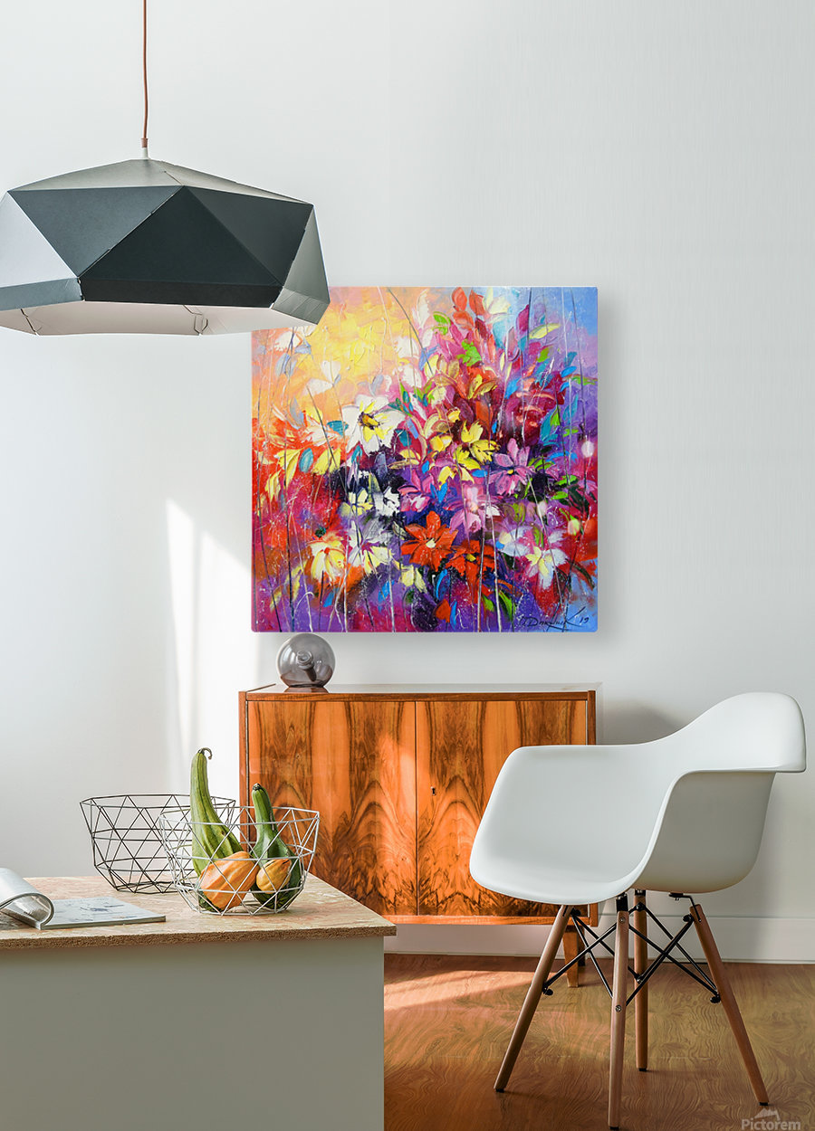 Dance of flowers  HD Metal print with Floating Frame on Back