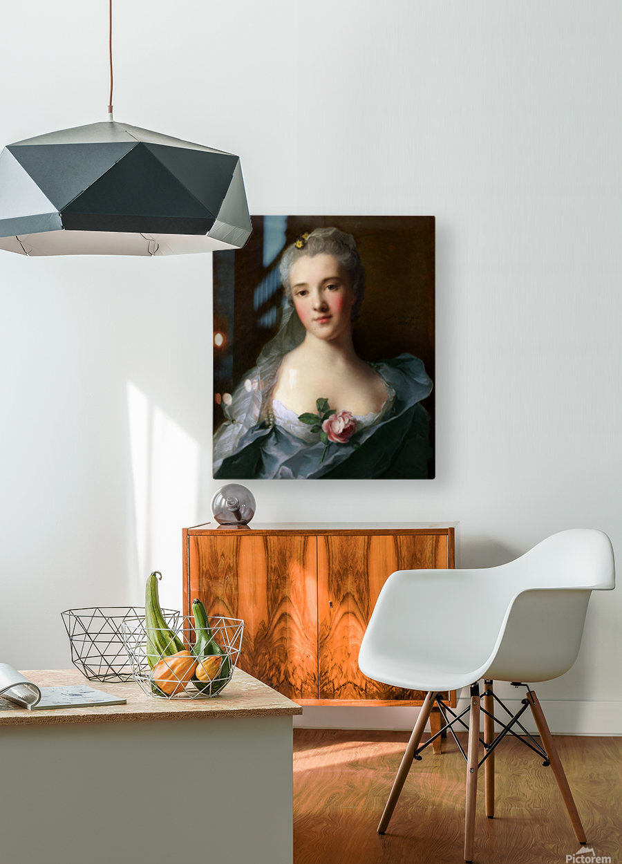Manon Balletti by Jean-Marc Nattier - Old Masters Prints  HD Metal print with Floating Frame on Back