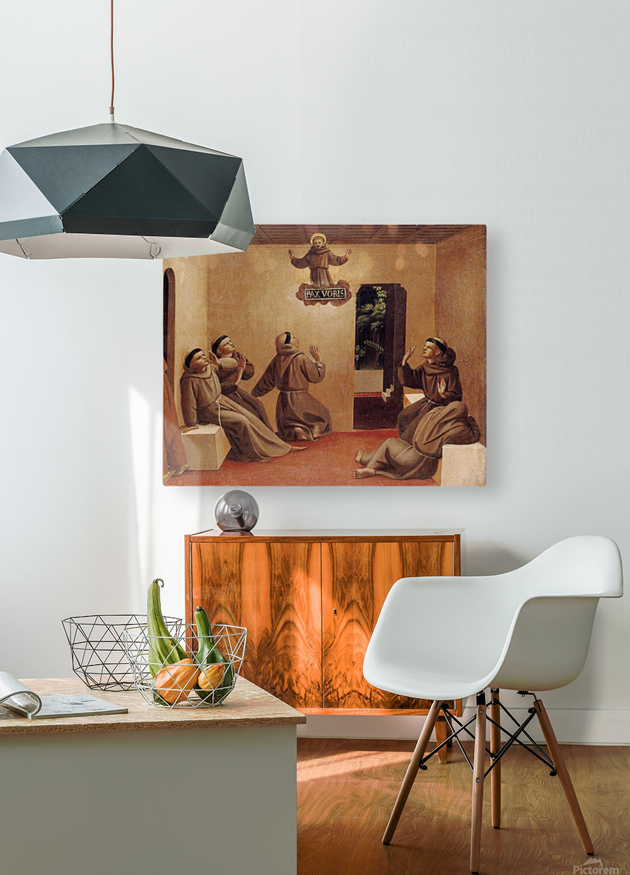 Apparition of St. Francis at Arles  HD Metal print with Floating Frame on Back