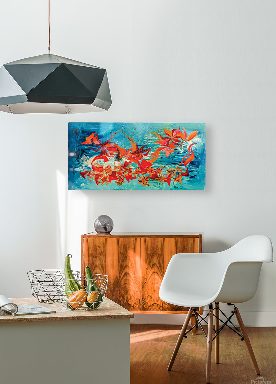 corals  HD Metal print with Floating Frame on Back
