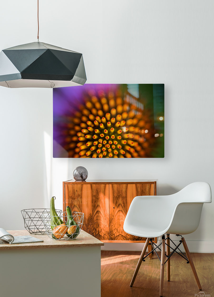 Flower Abstract  HD Metal print with Floating Frame on Back