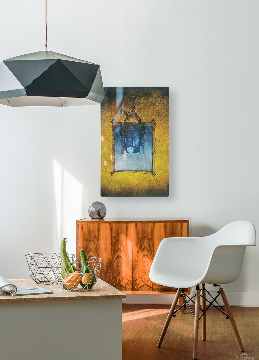 The night horserider  HD Metal print with Floating Frame on Back
