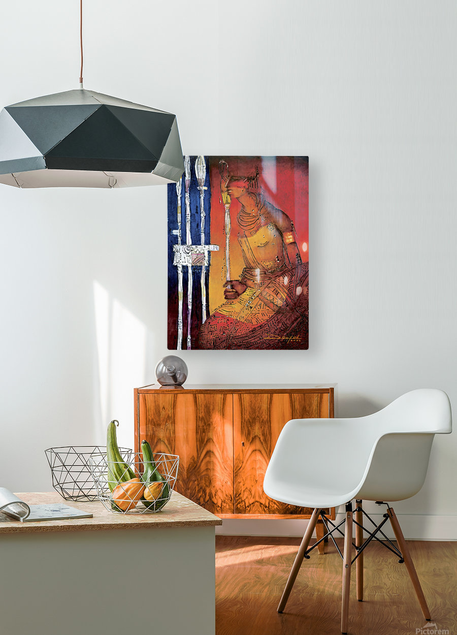 Massai  HD Metal print with Floating Frame on Back