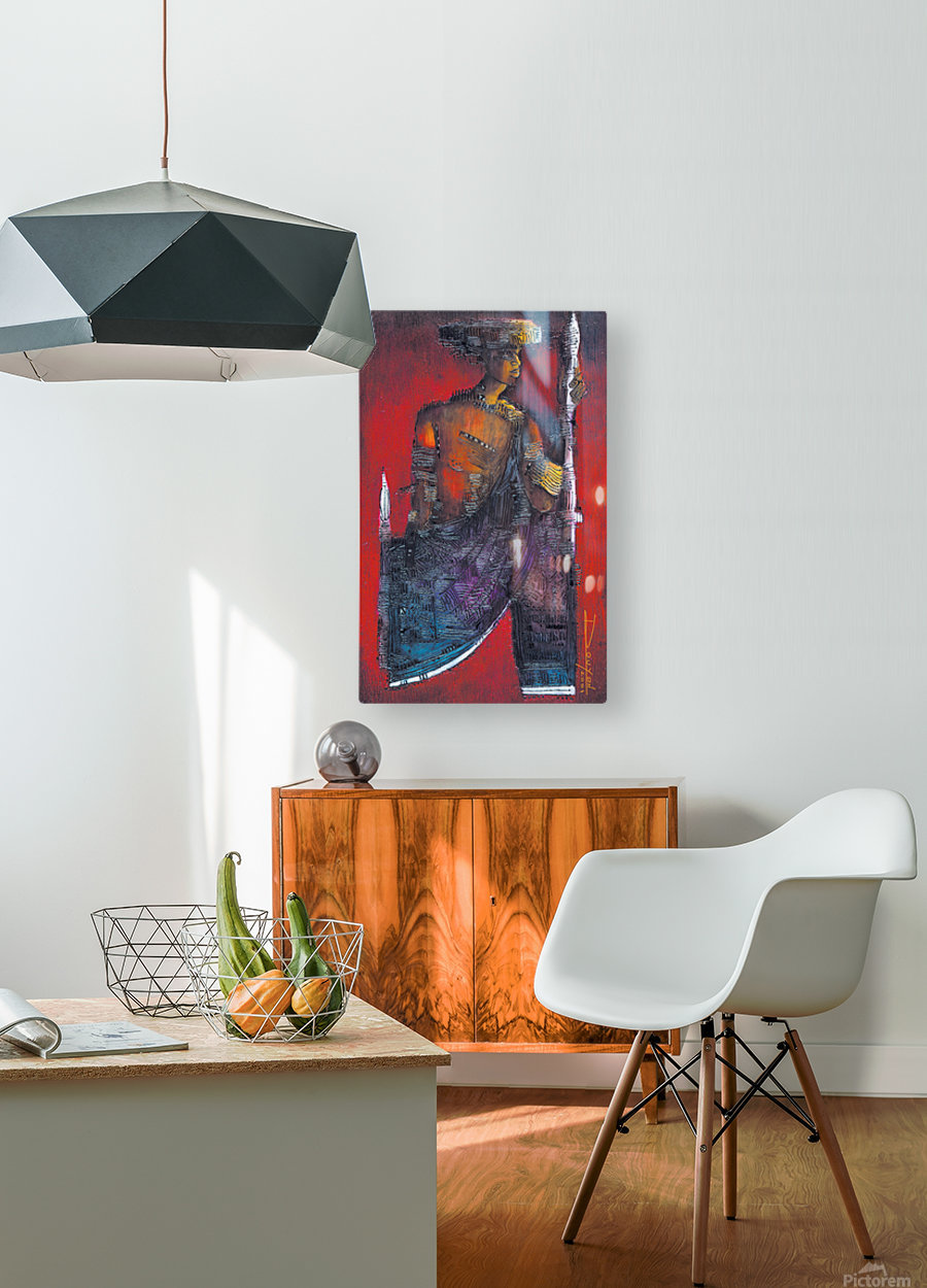 Red Massai  HD Metal print with Floating Frame on Back