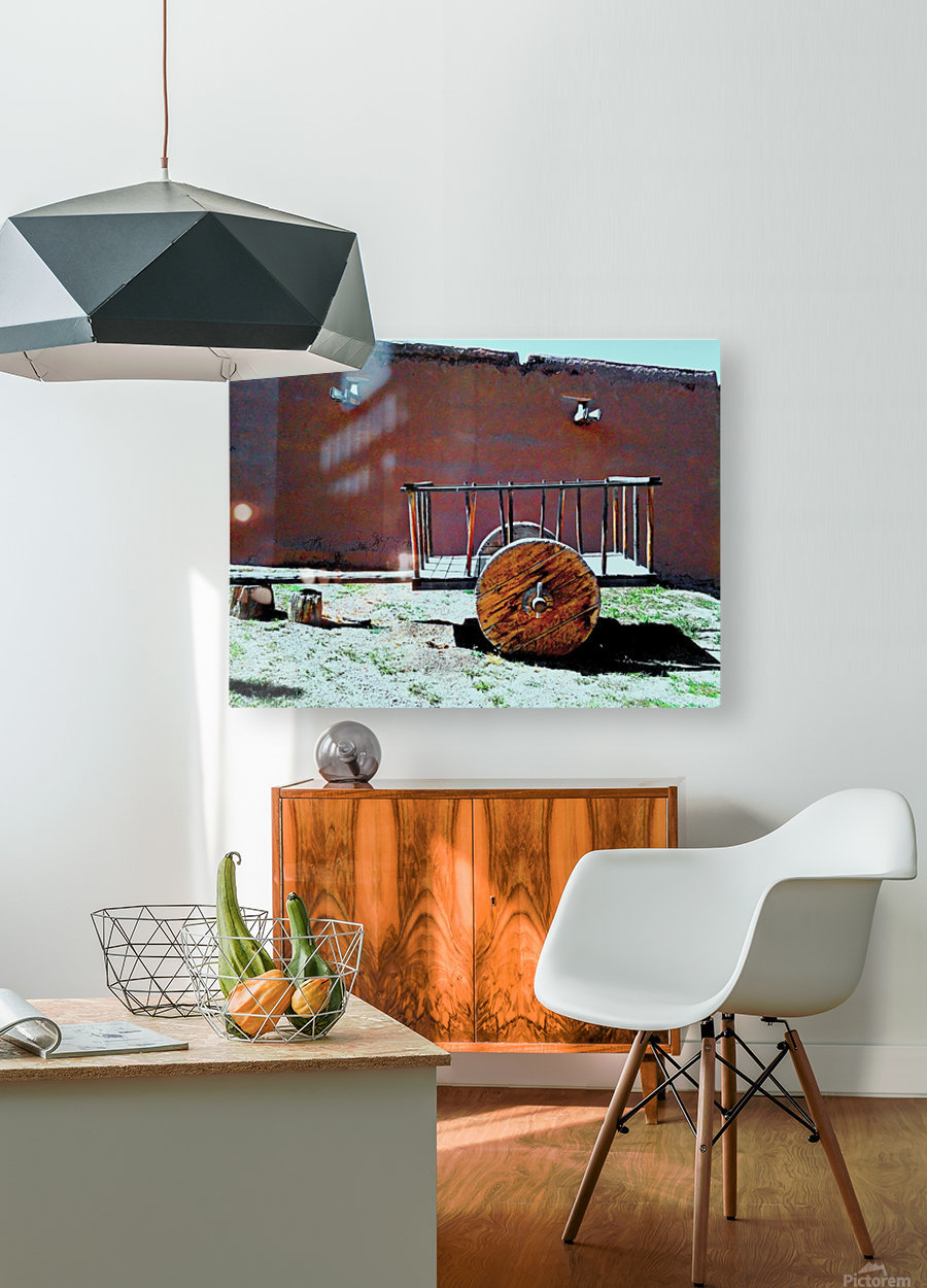 Hand cart  HD Metal print with Floating Frame on Back