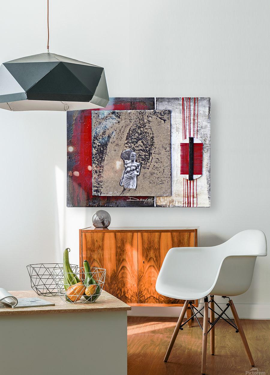 Komb 2  HD Metal print with Floating Frame on Back