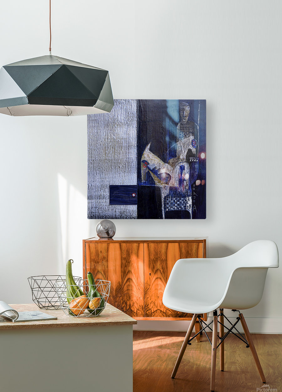Blue Horserider 1  HD Metal print with Floating Frame on Back
