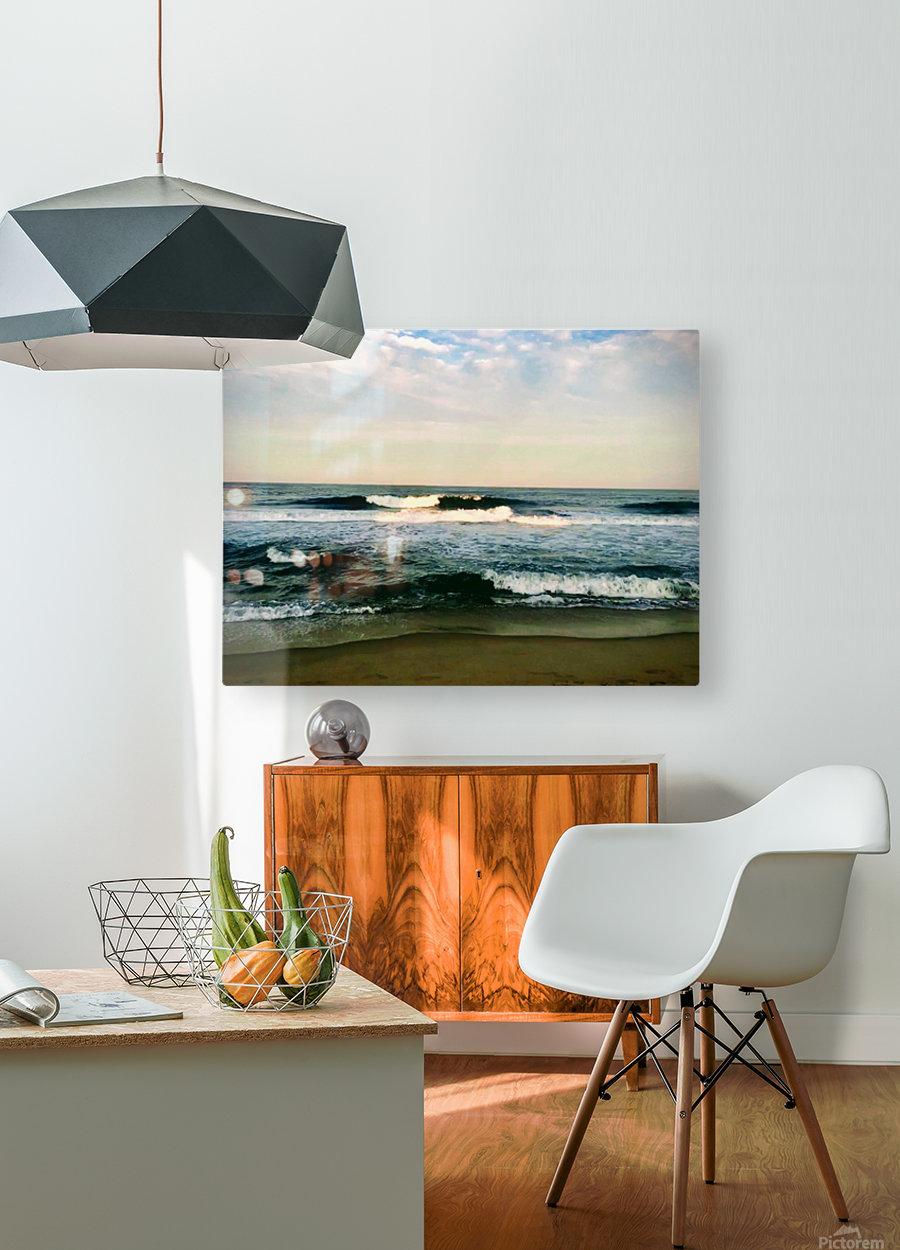 July Surf  HD Metal print with Floating Frame on Back