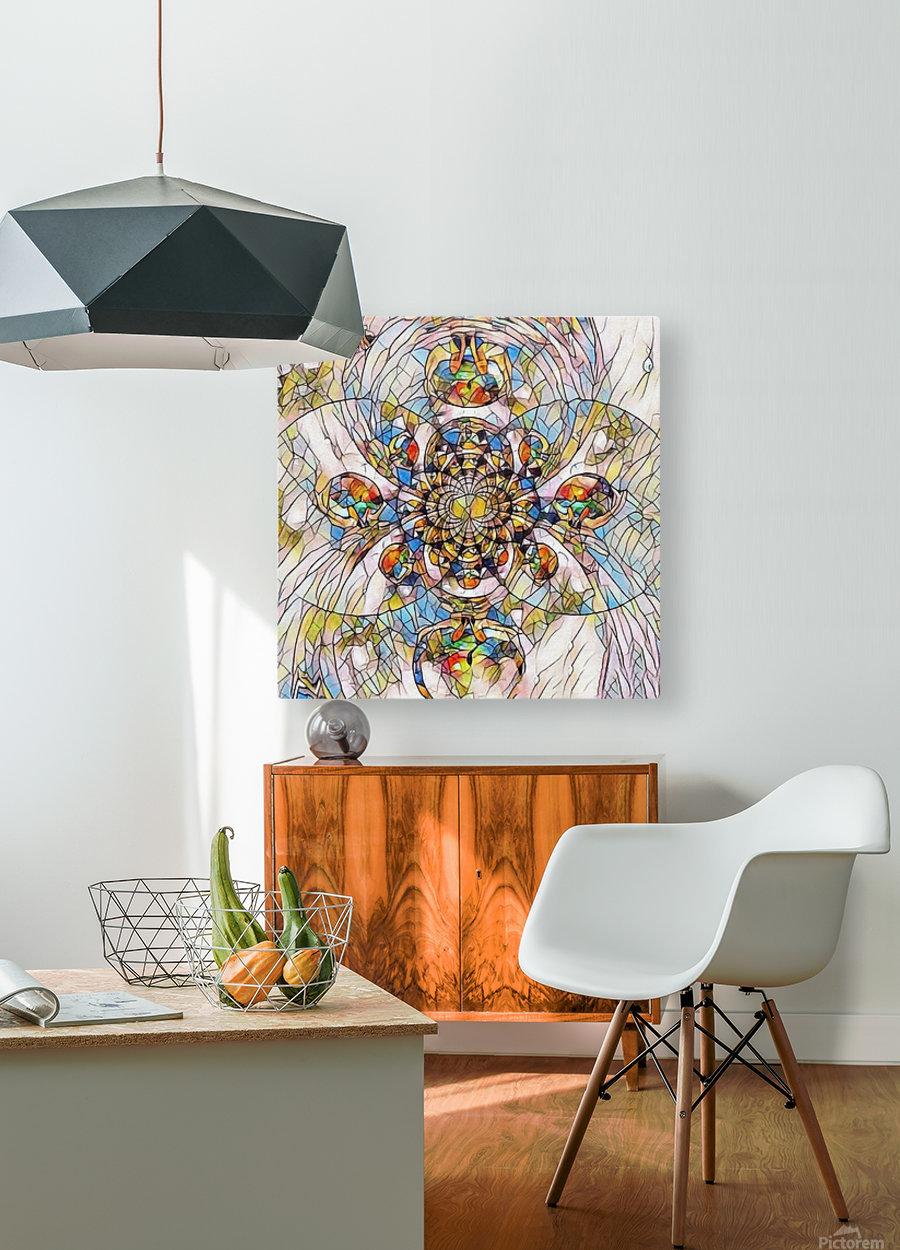 Mosaic Fractal  HD Metal print with Floating Frame on Back