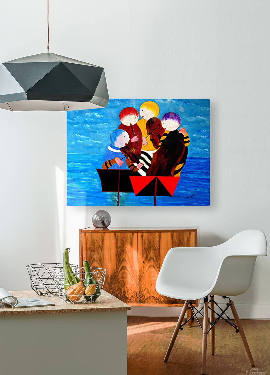 Performance  HD Metal print with Floating Frame on Back