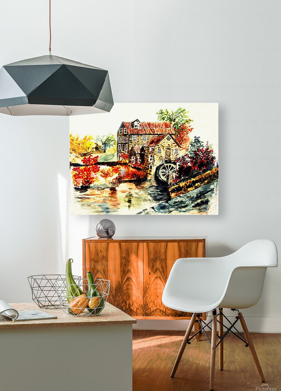 Farm House  HD Metal print with Floating Frame on Back