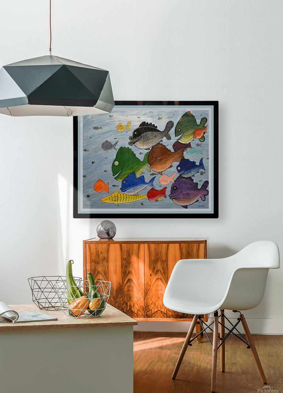 NEVER SEA - ACRYLIC PAINTING  HD Metal print with Floating Frame on Back