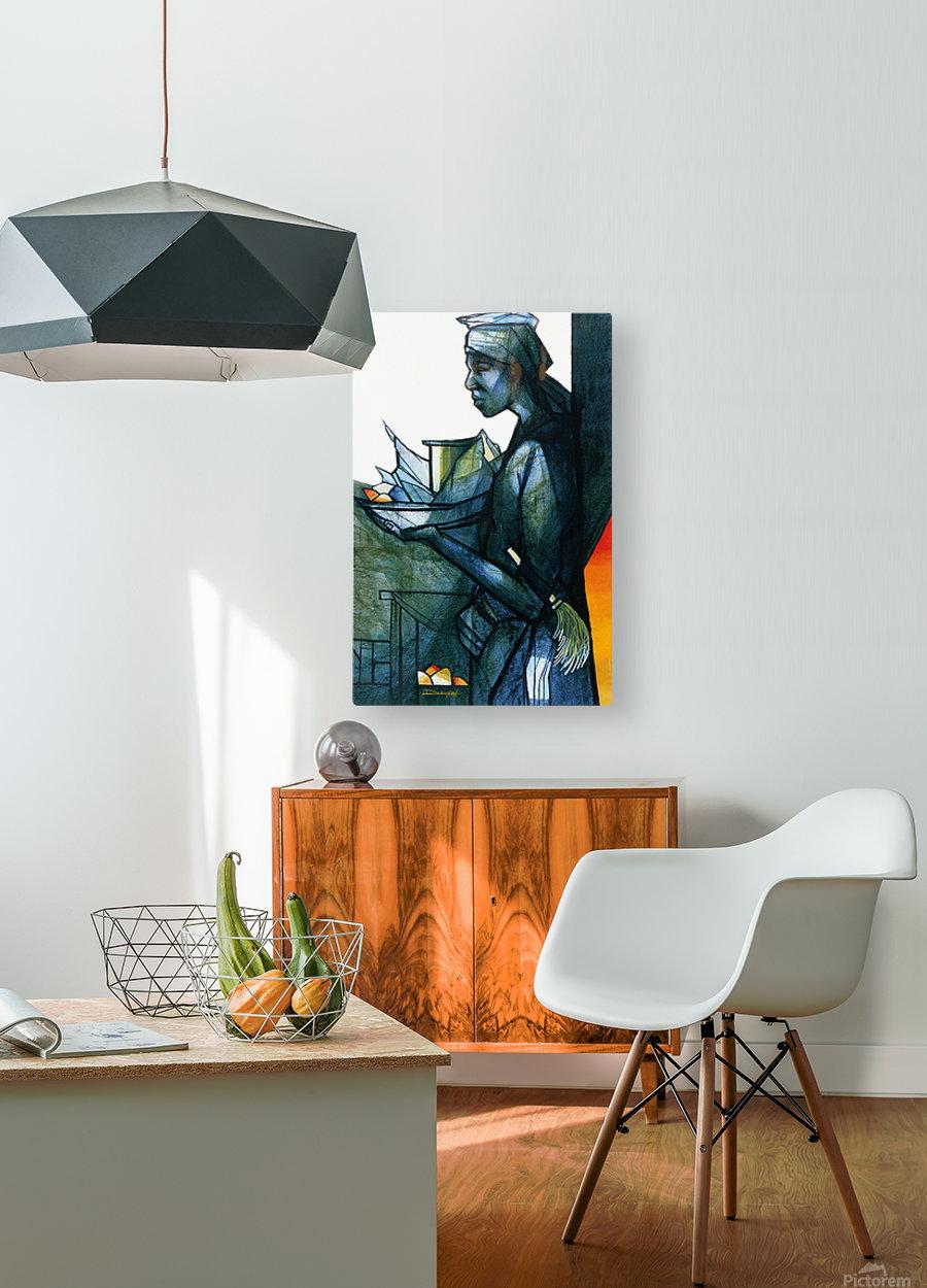 La marchande  HD Metal print with Floating Frame on Back