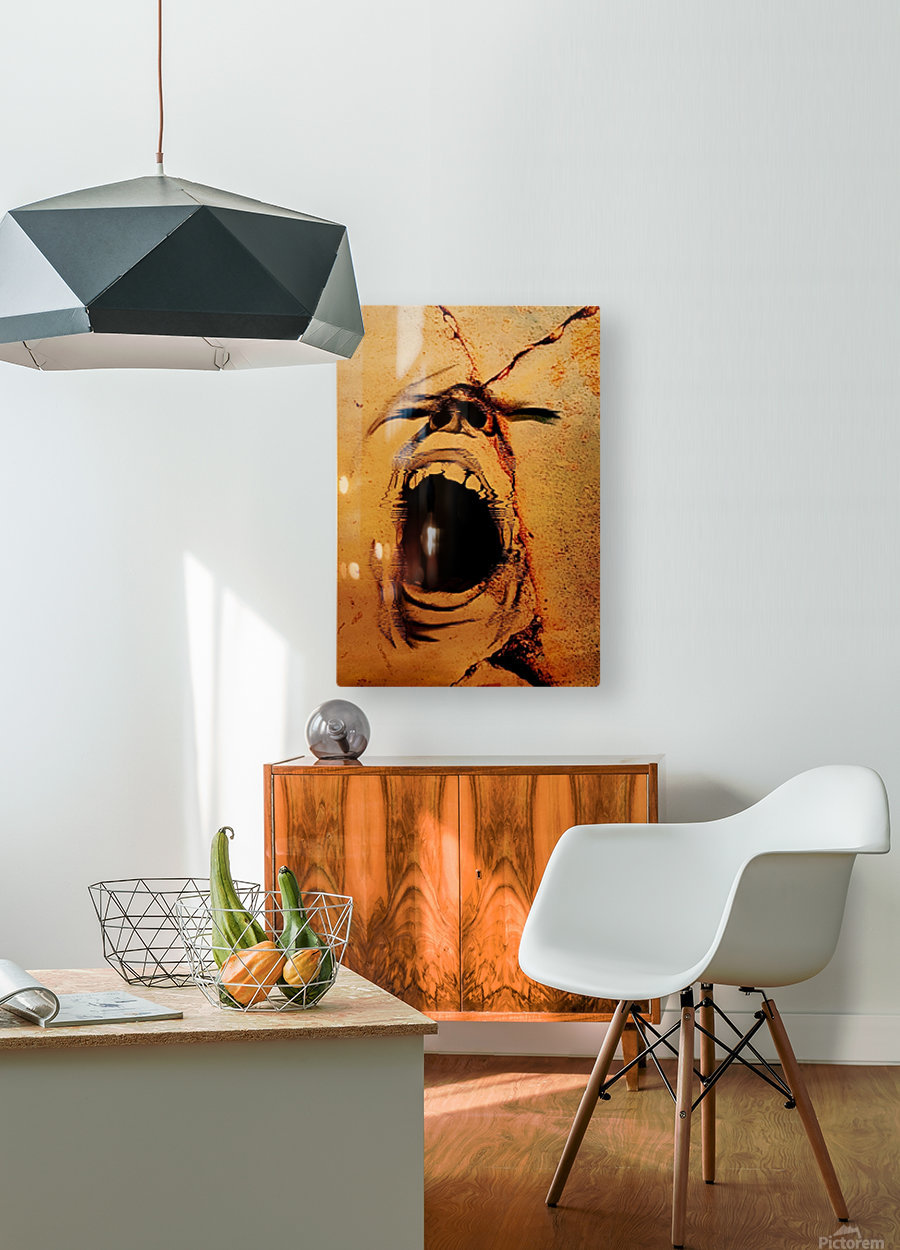 Rage  HD Metal print with Floating Frame on Back