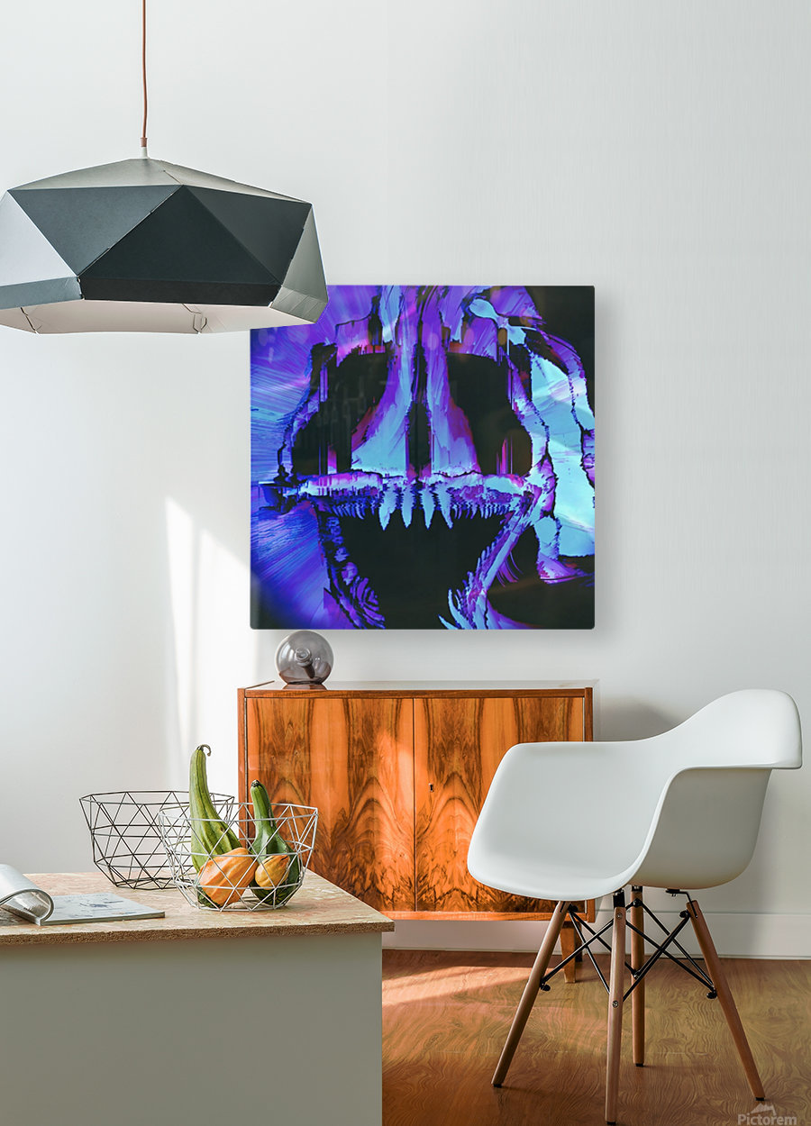 Wolf Eel Skull  HD Metal print with Floating Frame on Back