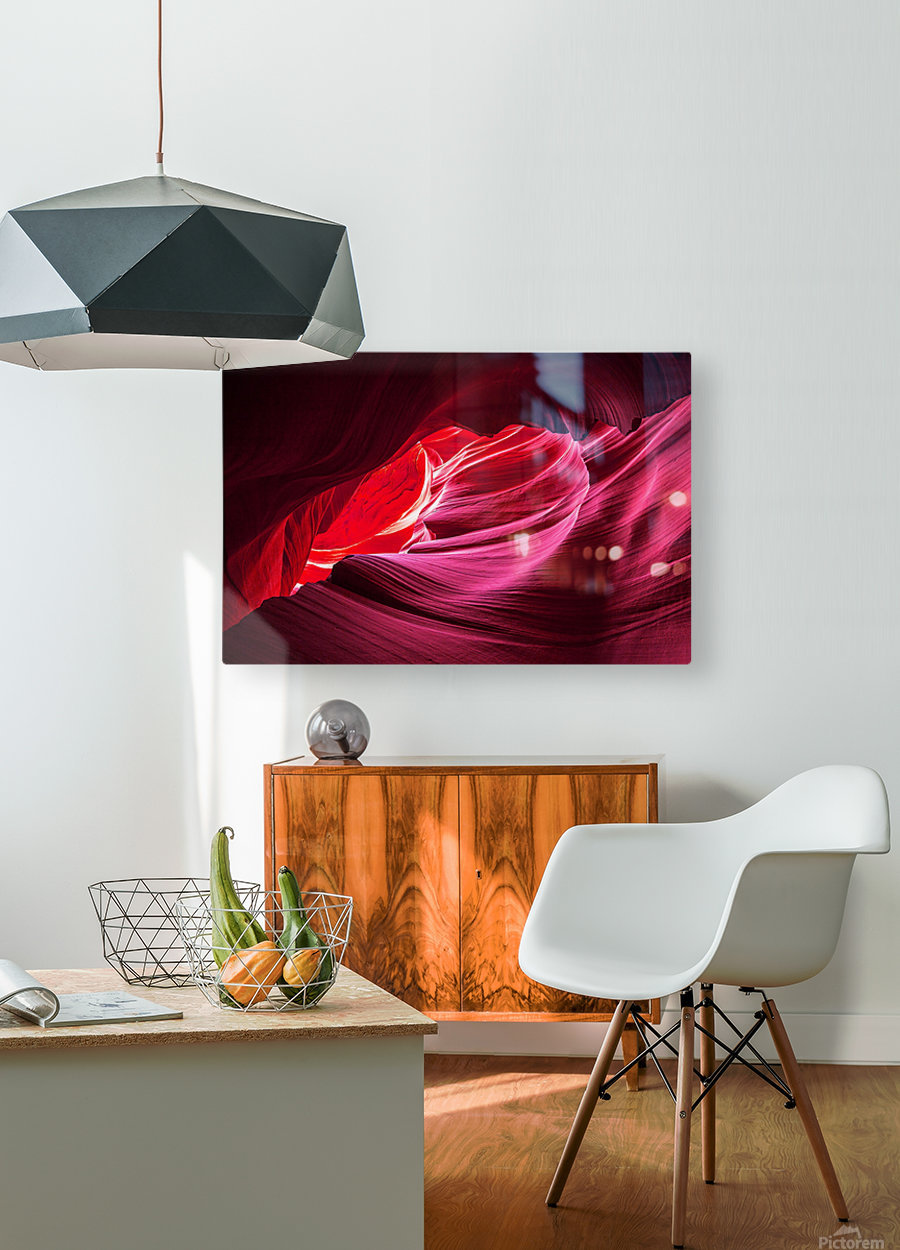 Purple Wave  HD Metal print with Floating Frame on Back