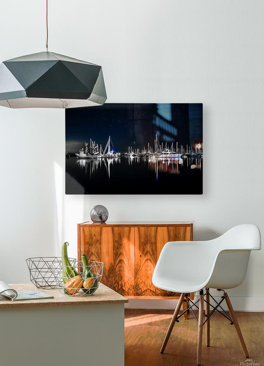 Midnight Stillness  HD Metal print with Floating Frame on Back