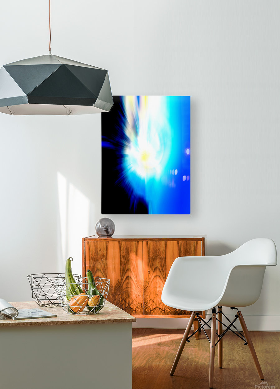 Filtered Sun  HD Metal print with Floating Frame on Back