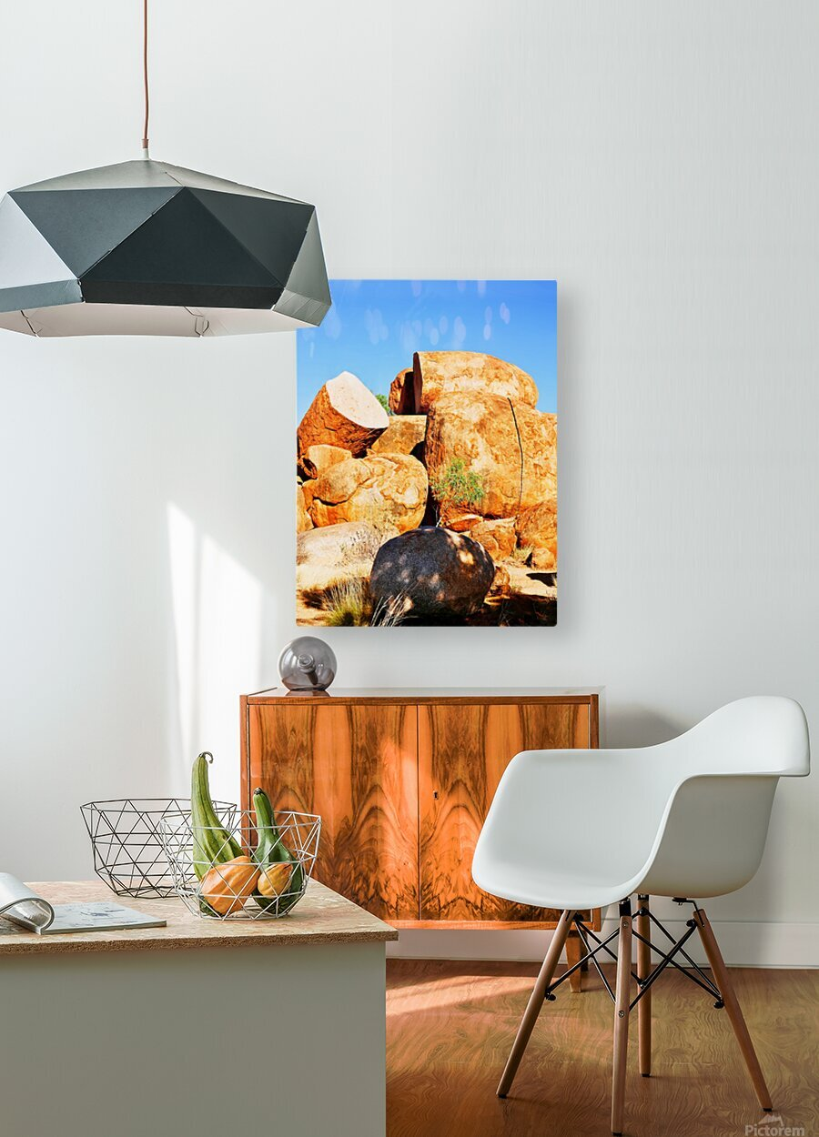 Lone Tree - Devils Marbles  HD Metal print with Floating Frame on Back