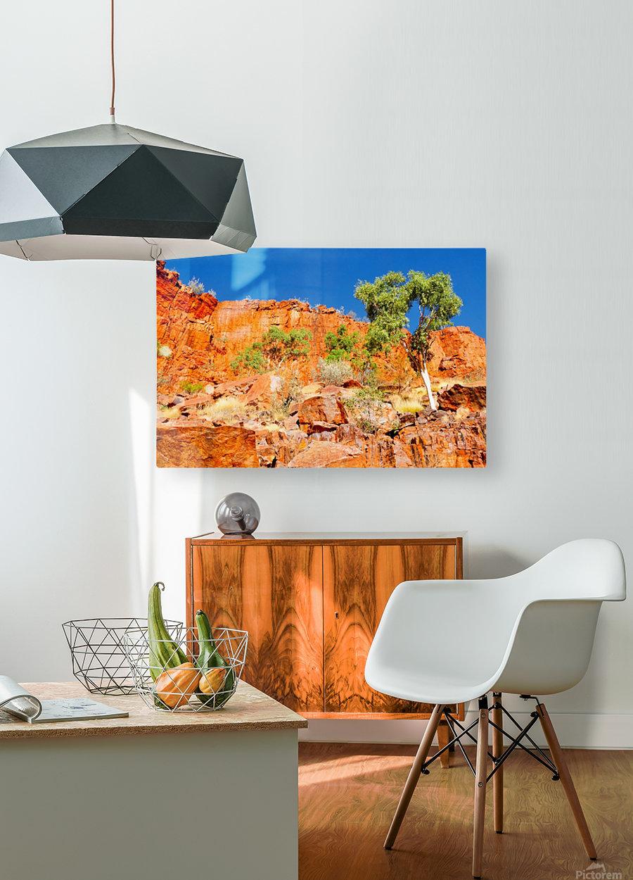 Ormiston Gorge Landscape  HD Metal print with Floating Frame on Back