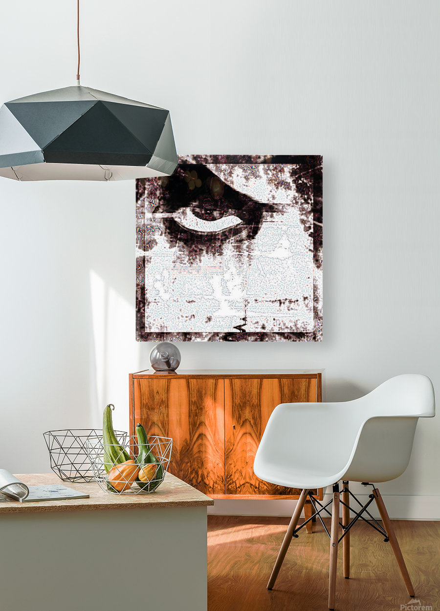 Modern Eye Emboss  HD Metal print with Floating Frame on Back
