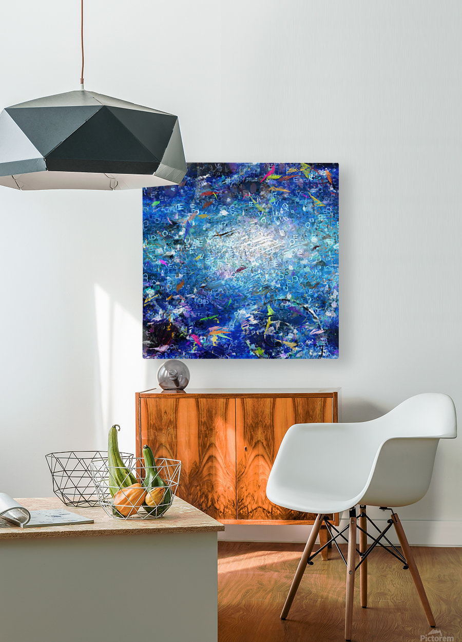 Abstract Canvas  HD Metal print with Floating Frame on Back