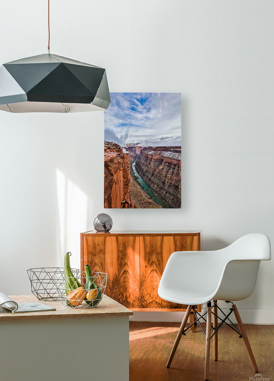 Divided  HD Metal print with Floating Frame on Back