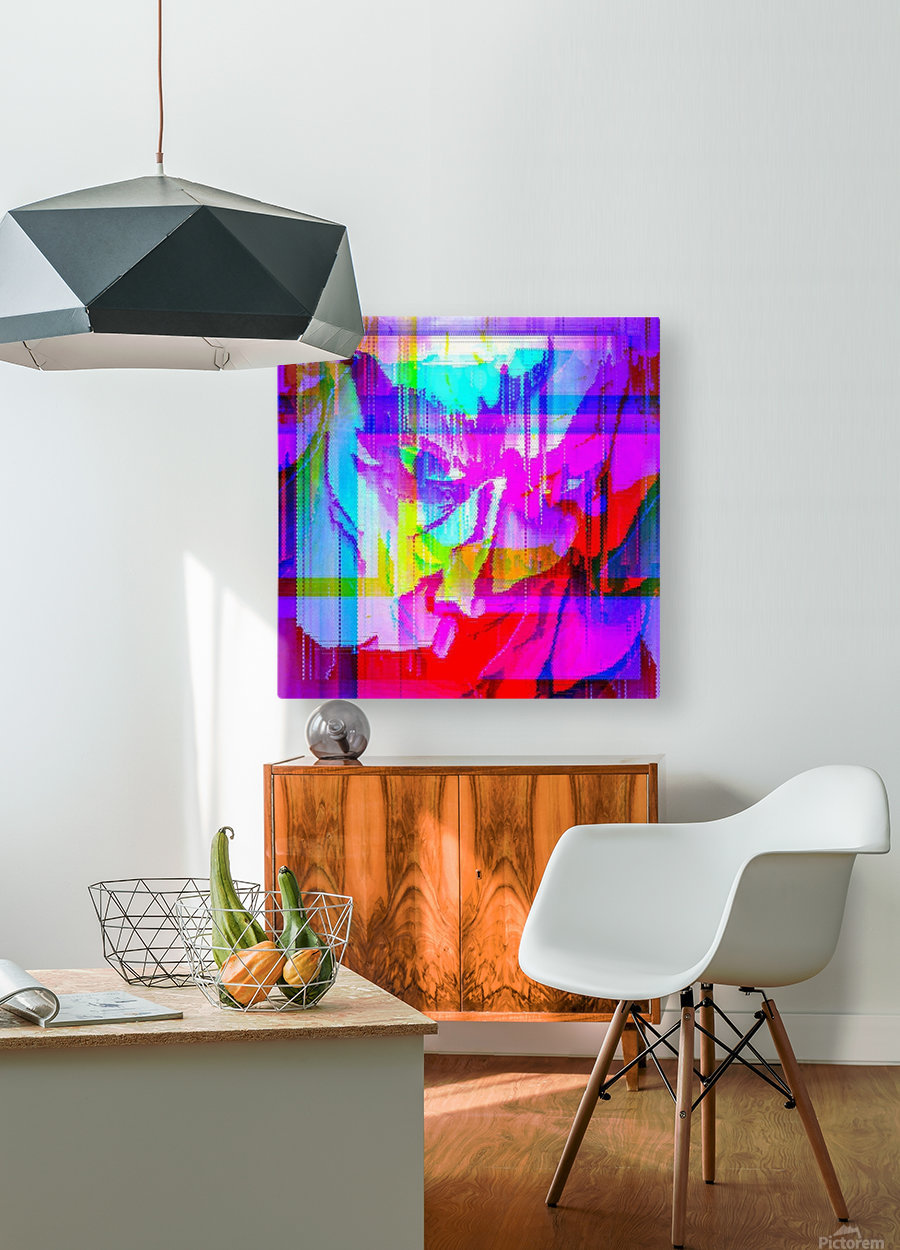 Modern Abstract Portrait   HD Metal print with Floating Frame on Back