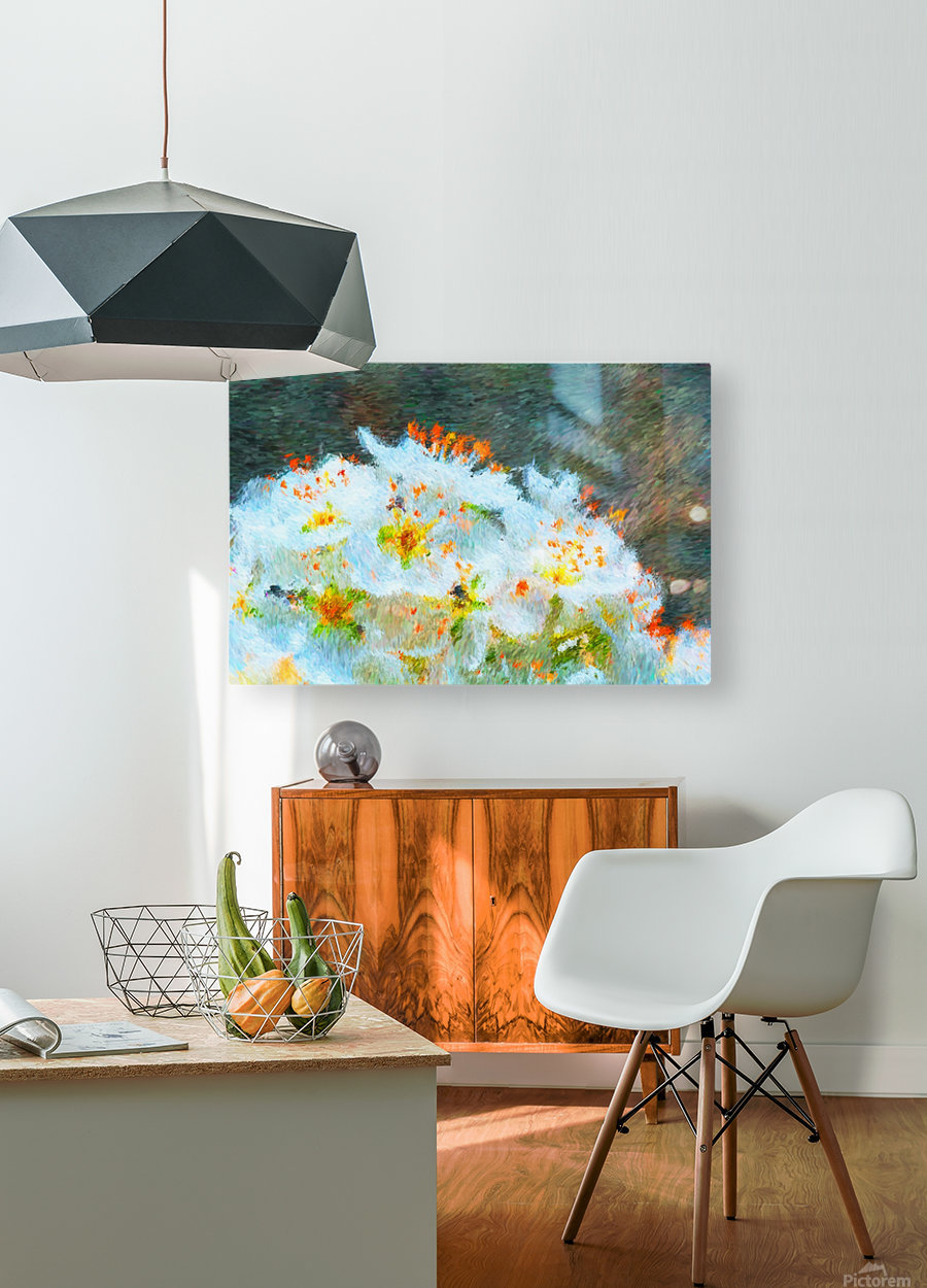 Blossom In A Storm  HD Metal print with Floating Frame on Back