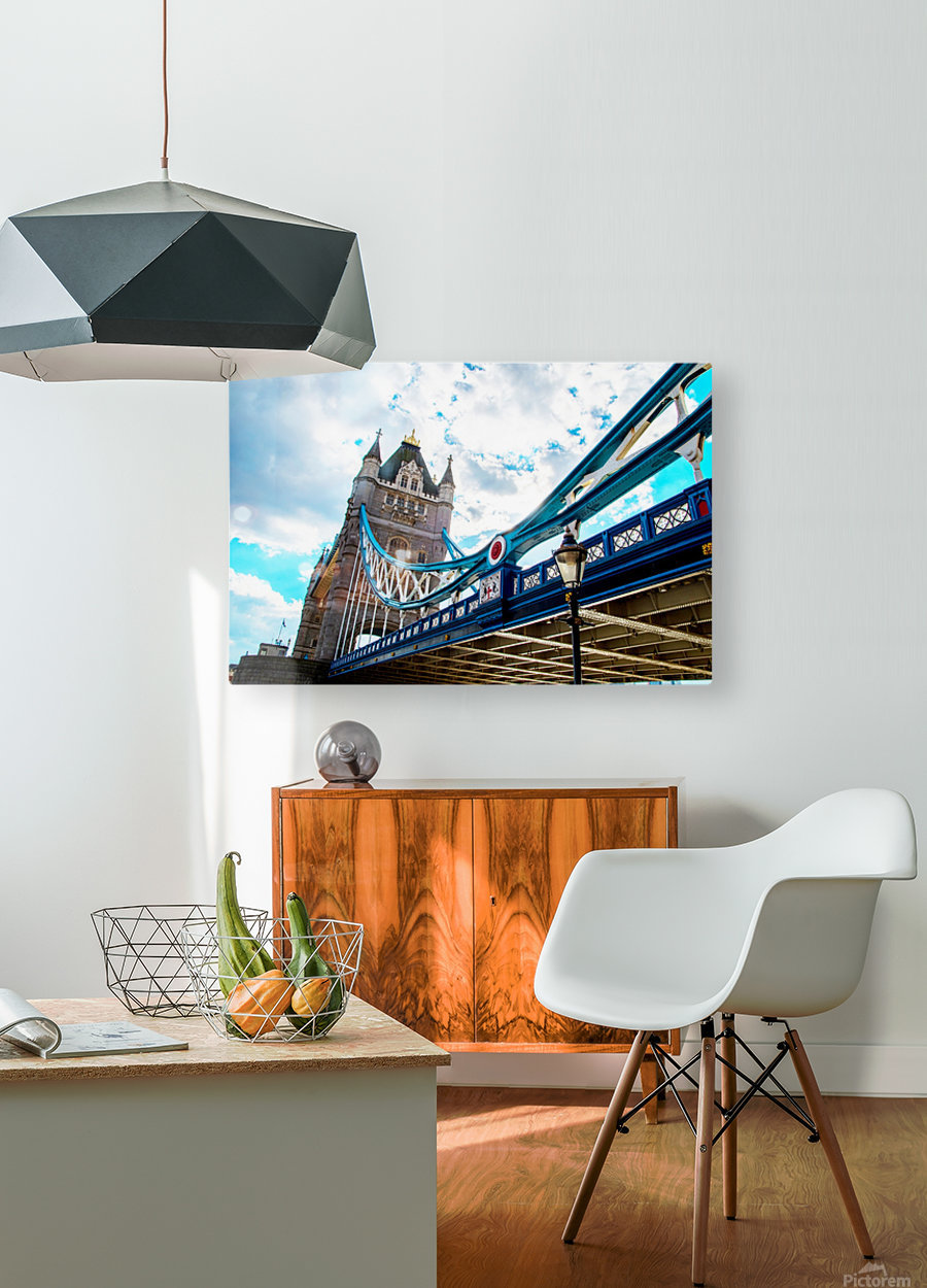 The Might of Tower Bridge  HD Metal print with Floating Frame on Back