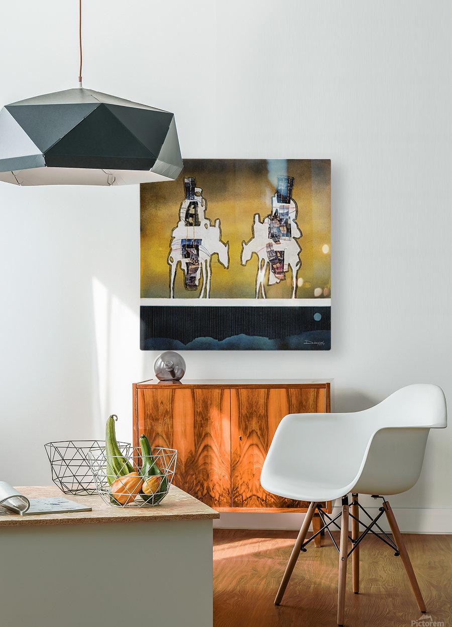 Donkey talk  Impression métal HD avec cadre flottant sur le dos