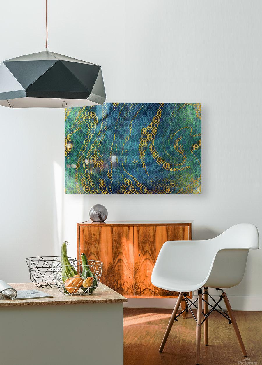 Geometric XXXXXIII  HD Metal print with Floating Frame on Back