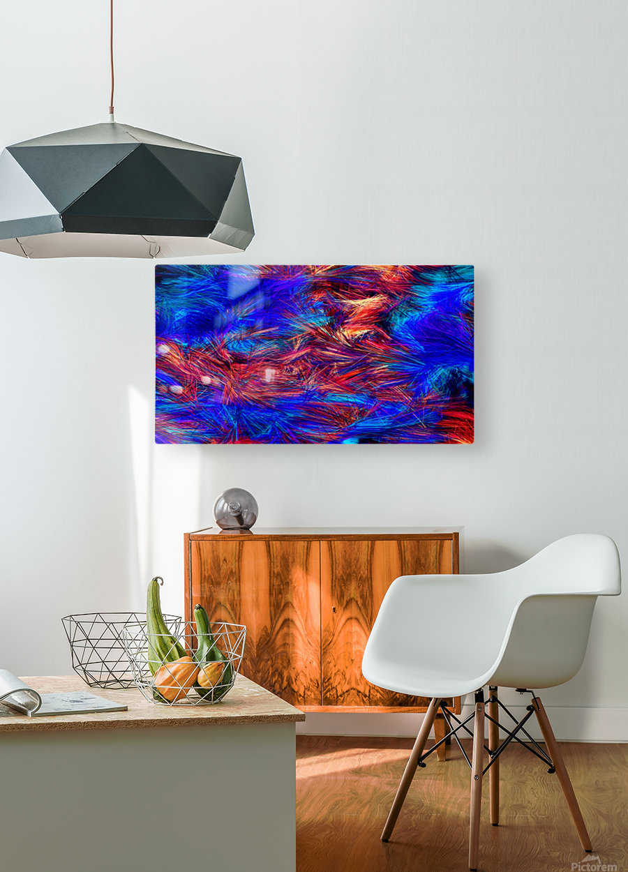 Colored Lines  HD Metal print with Floating Frame on Back