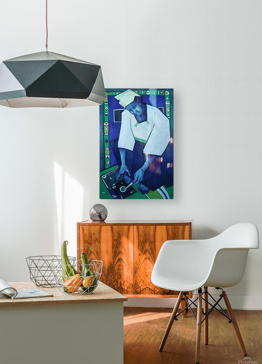 Mozaik bleu  HD Metal print with Floating Frame on Back