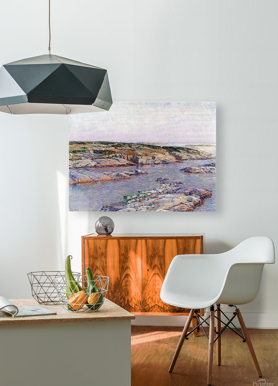 Summer afternoon, the Isles of Shoals by Hassam  HD Metal print with Floating Frame on Back