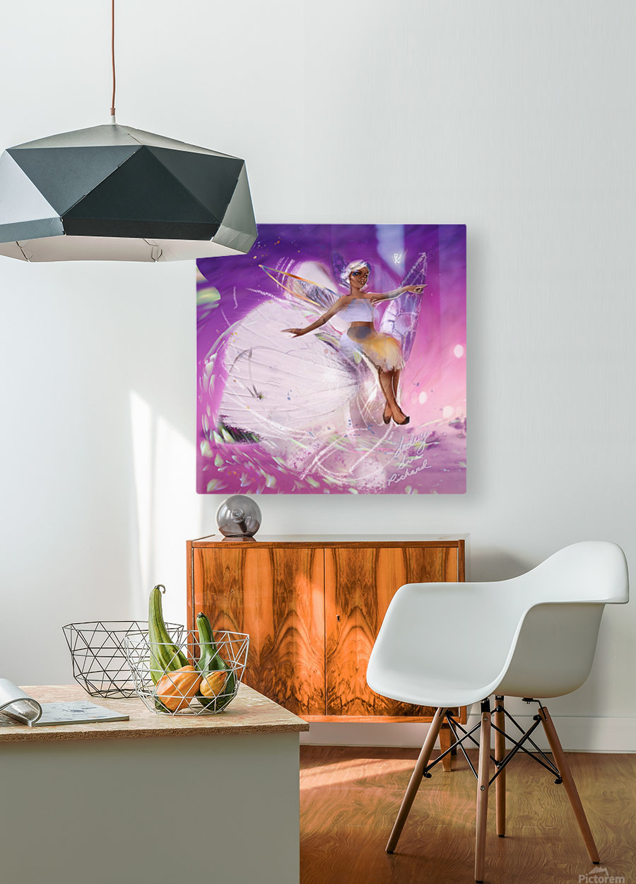 FAIRY  HD Metal print with Floating Frame on Back