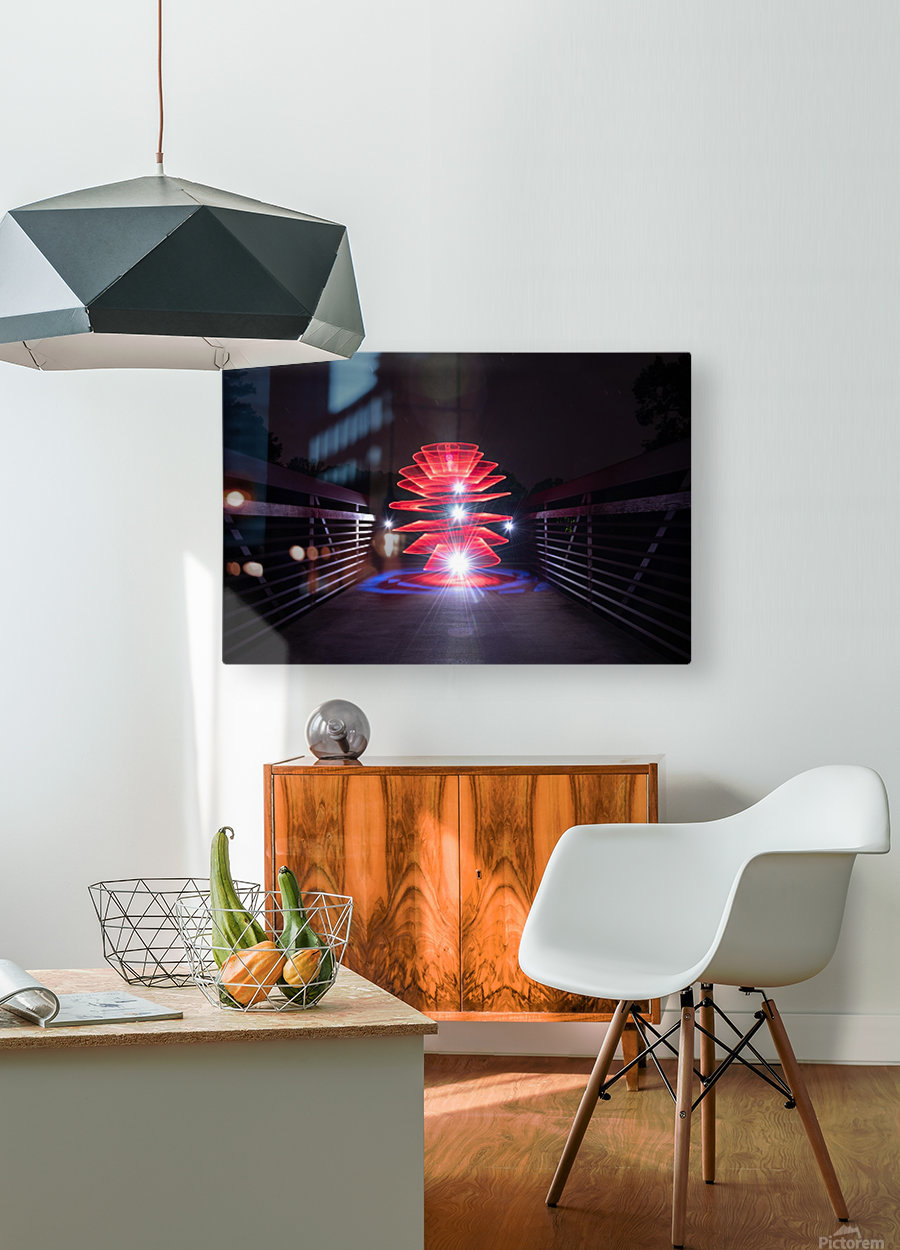 Rising Spiral  HD Metal print with Floating Frame on Back