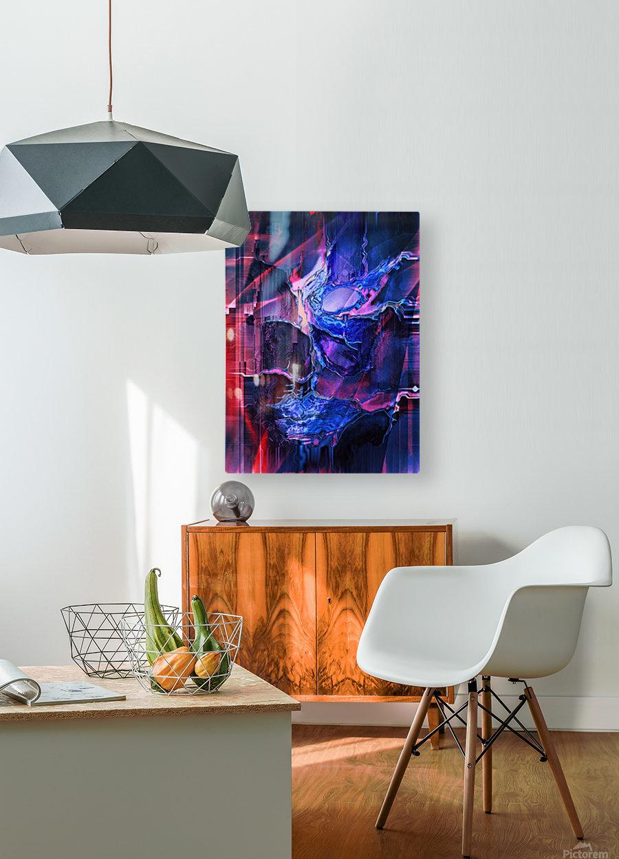 Blue Portrait  HD Metal print with Floating Frame on Back