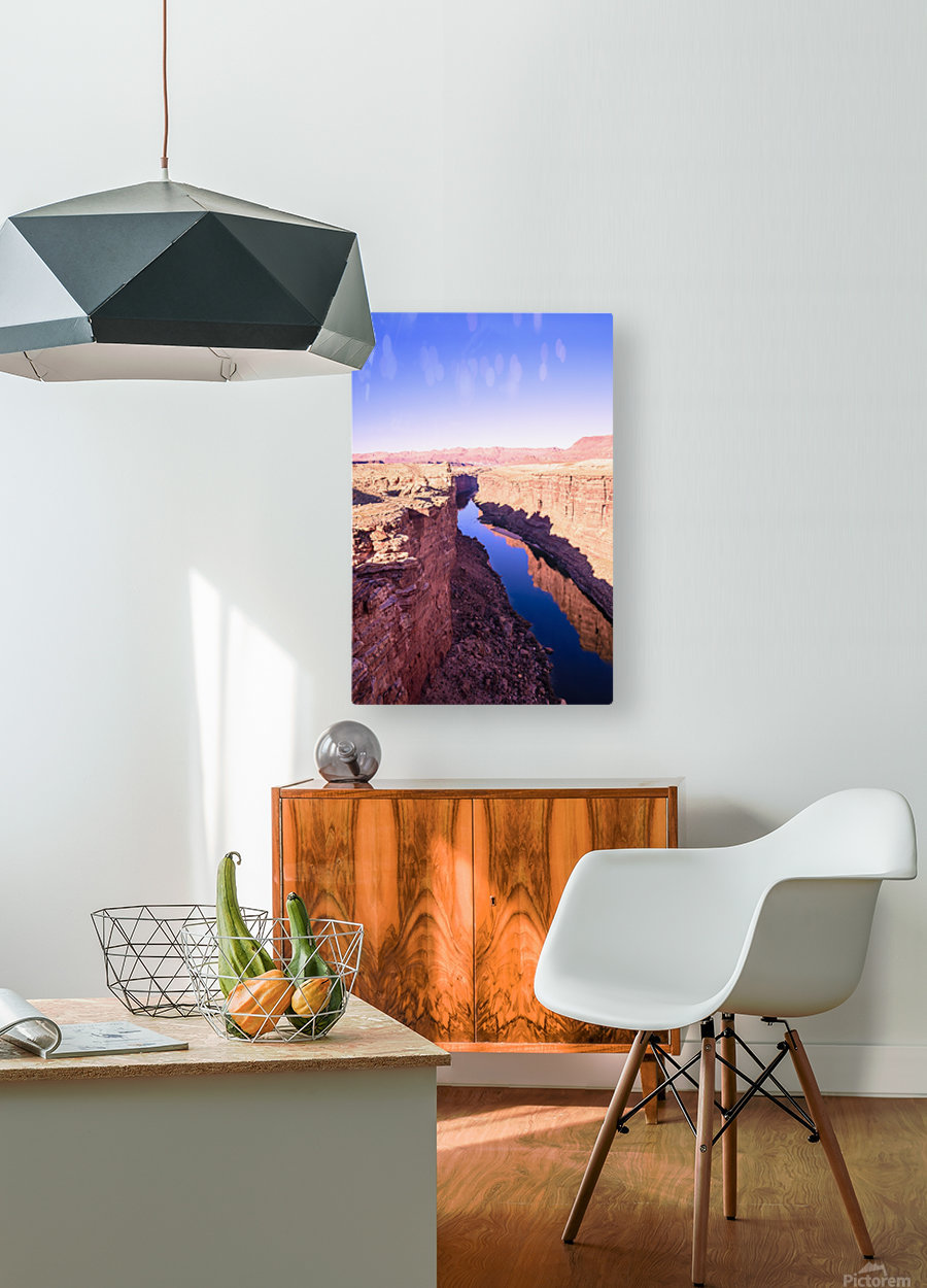 Marble Canyon  HD Metal print with Floating Frame on Back