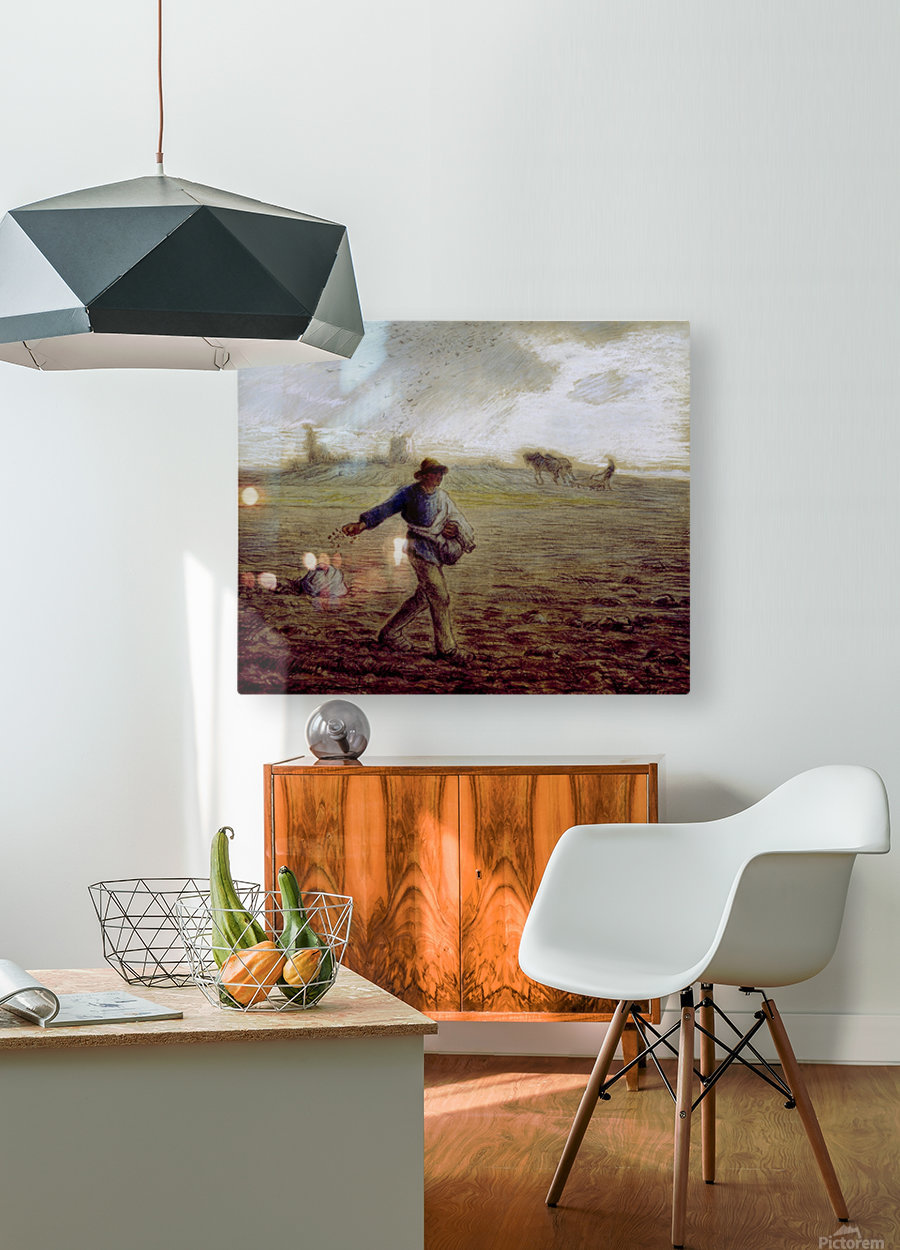 The Sower - Walters  HD Metal print with Floating Frame on Back
