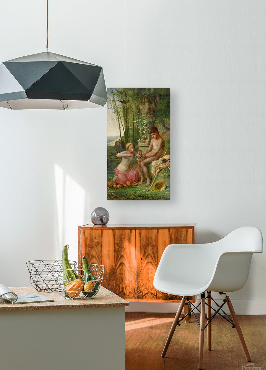 Spring children  HD Metal print with Floating Frame on Back