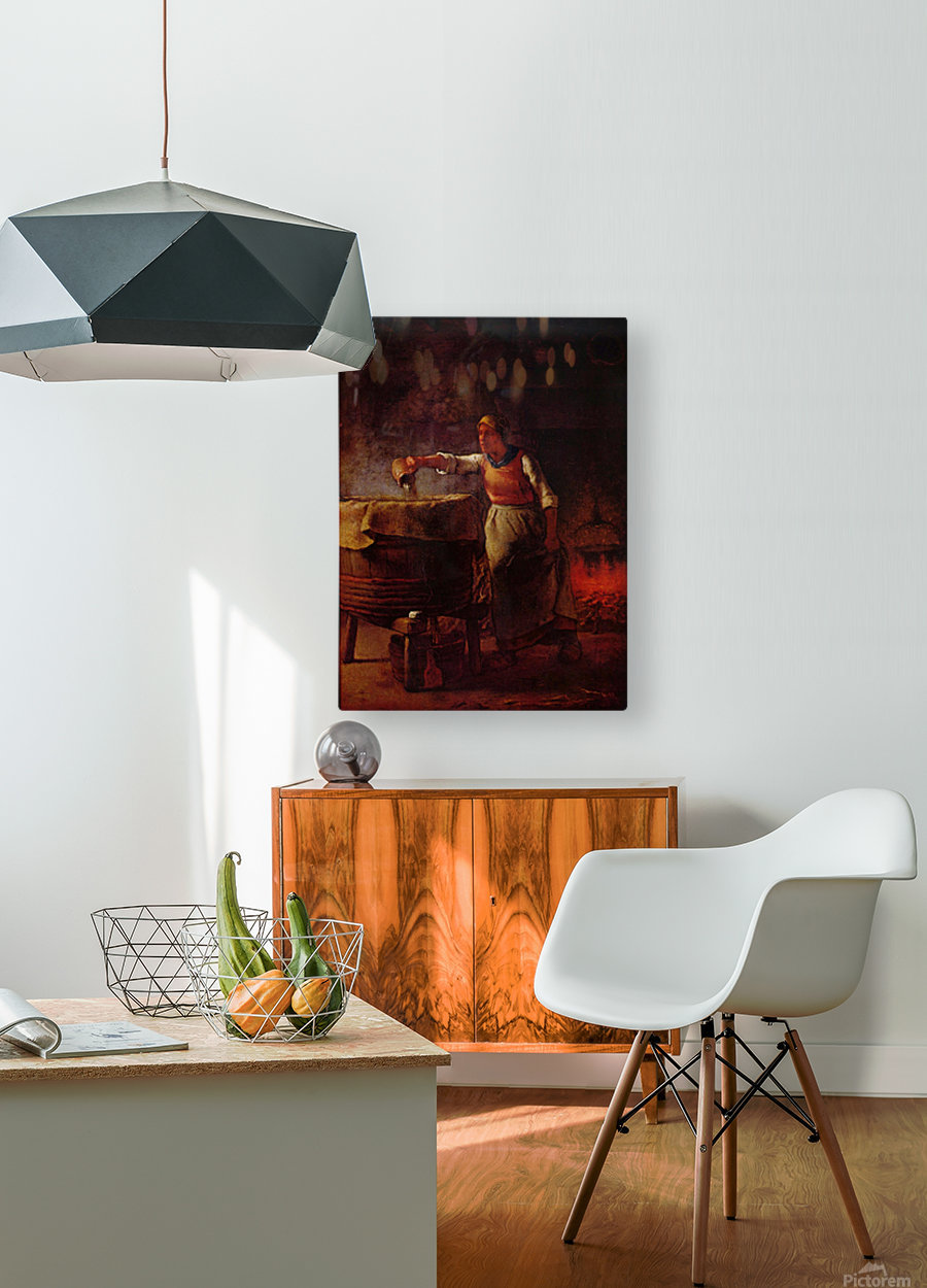 At home  HD Metal print with Floating Frame on Back