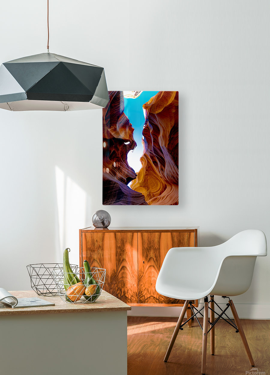 Lower Antelope Canyon  HD Metal print with Floating Frame on Back