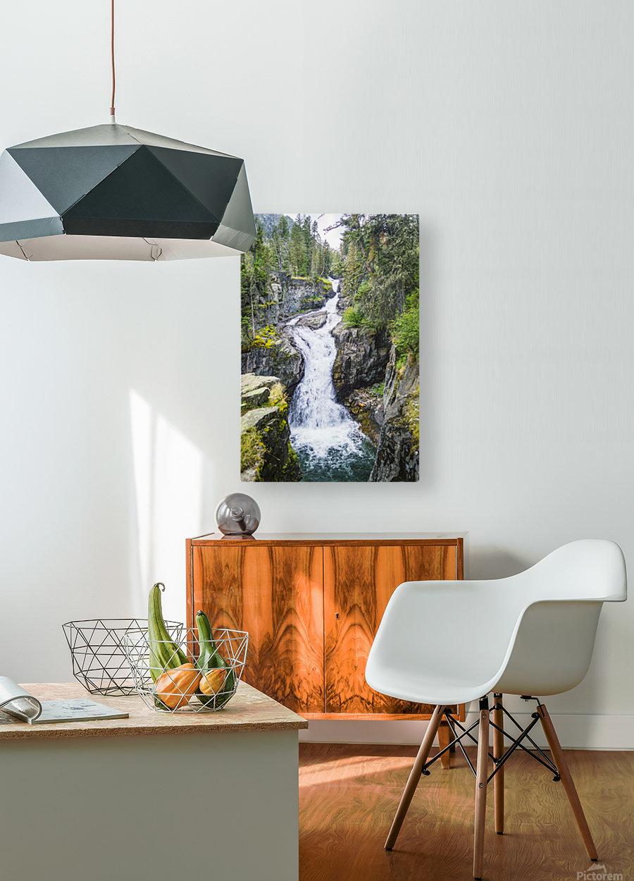 Big TImber Creek  HD Metal print with Floating Frame on Back