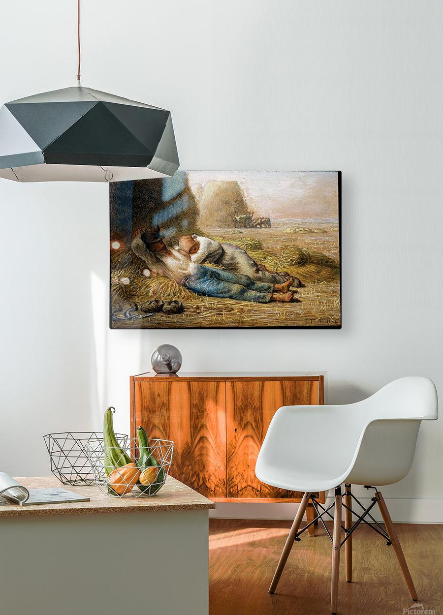 Sleeping peasants  HD Metal print with Floating Frame on Back