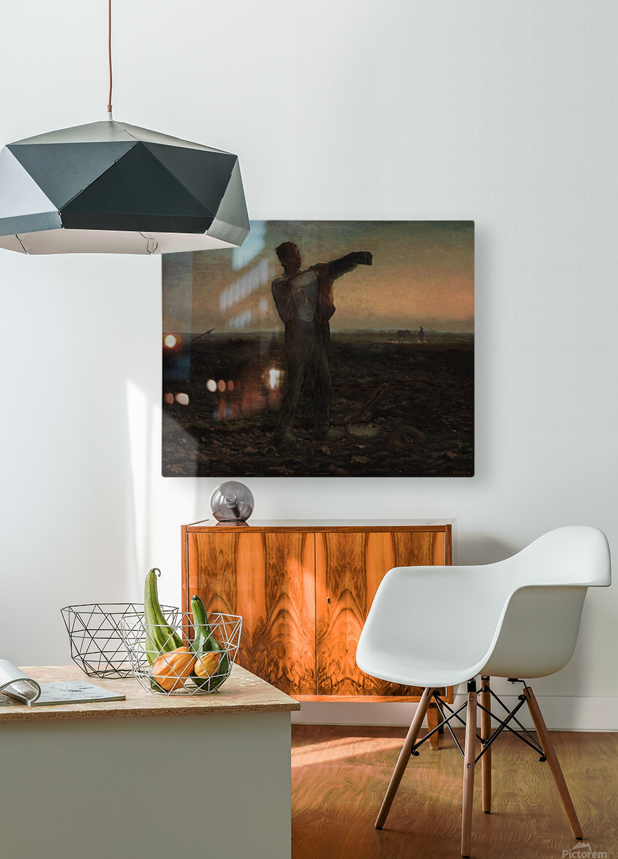 End of the day  HD Metal print with Floating Frame on Back